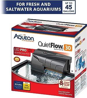 Aqueon QuietFlow LED PRO Aquarium Power Filter 30