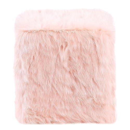 HomePop Faux Fur Poof – Pink