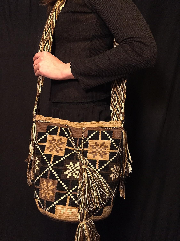 Mochila Wayuu - Bolso cruzados de algodón para mujer Large, color Multicolor, talla Large: Amazon.es: Zapatos y complementos