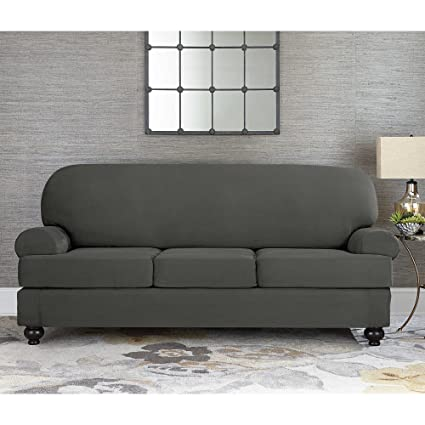 Amazon Com Sure Fit Designer Suede Convertible T Cushion Sofa 3