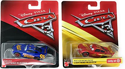 Amazon Com Disney Cars 3 Fabulous Lightning Mcqueen And Rust Eze