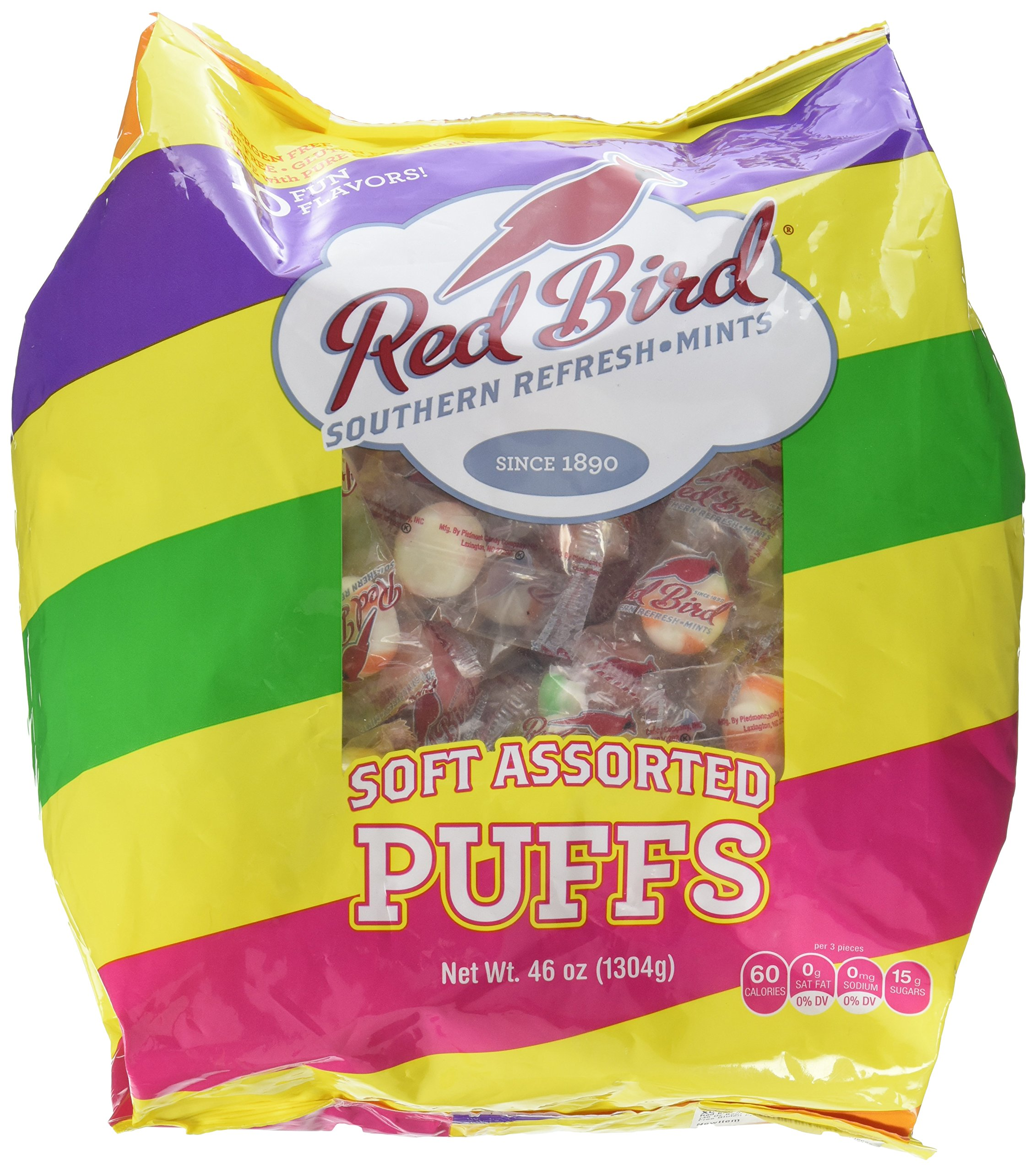 Amazon.com : Red Bird Soft Peppermint Puffs (240 Count)Net Wt 46 oz : Hard Candy : Grocery