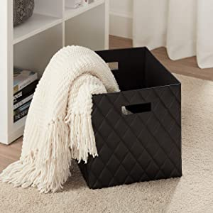 Better Homes and Gardens Collapsible Fabric Storage Cube - Black Lattice