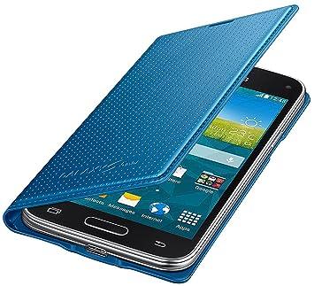Samsung BT-EFFG800BE - Funda tipo flip para Samsung G800F Galaxy S5 mini, color azul- Versión Extranjera