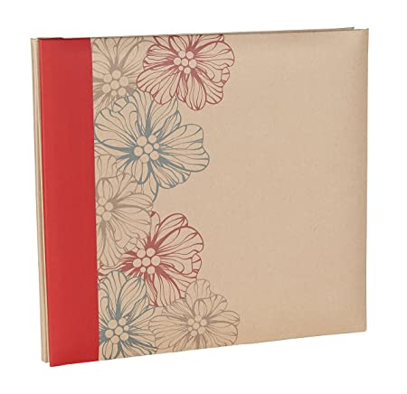 Kraftline Moments Scrapbook Photo Albums With Decorated Kraft Paper