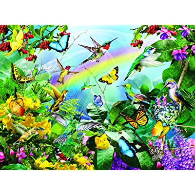 Hummingbird Sanctuary 1000 Piece Jigsaw Puzzle by SunsOut: Toys & Games