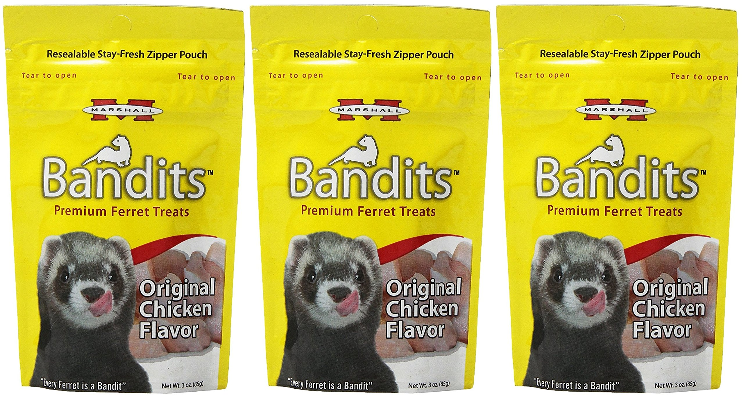(3 Pack) Marshall Bandits Ferret Treat Chicken by Marshall