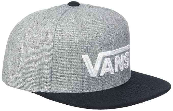 Vans Drop V II Snapback, Gorra para Niños, Gris (Heather Grey-Black
