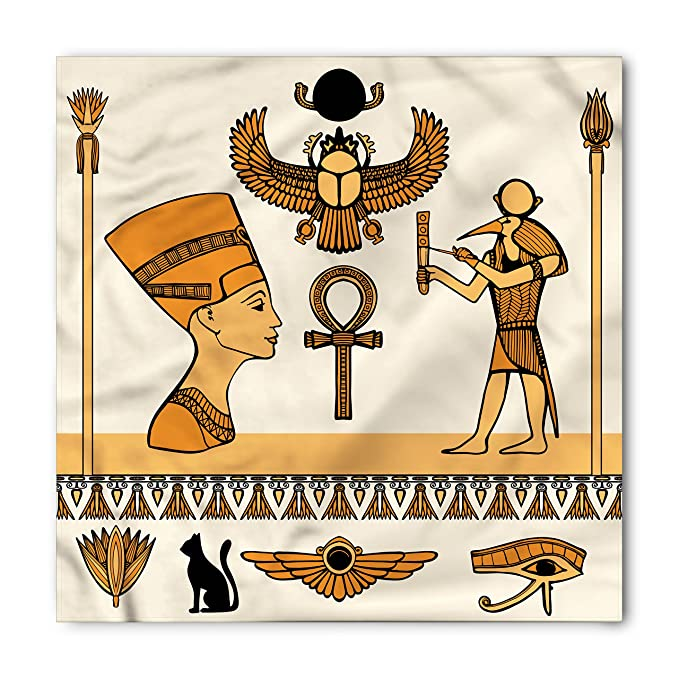 Amazon Ambesonne Egyptian Bandana Ancient Symbols Set Unisex