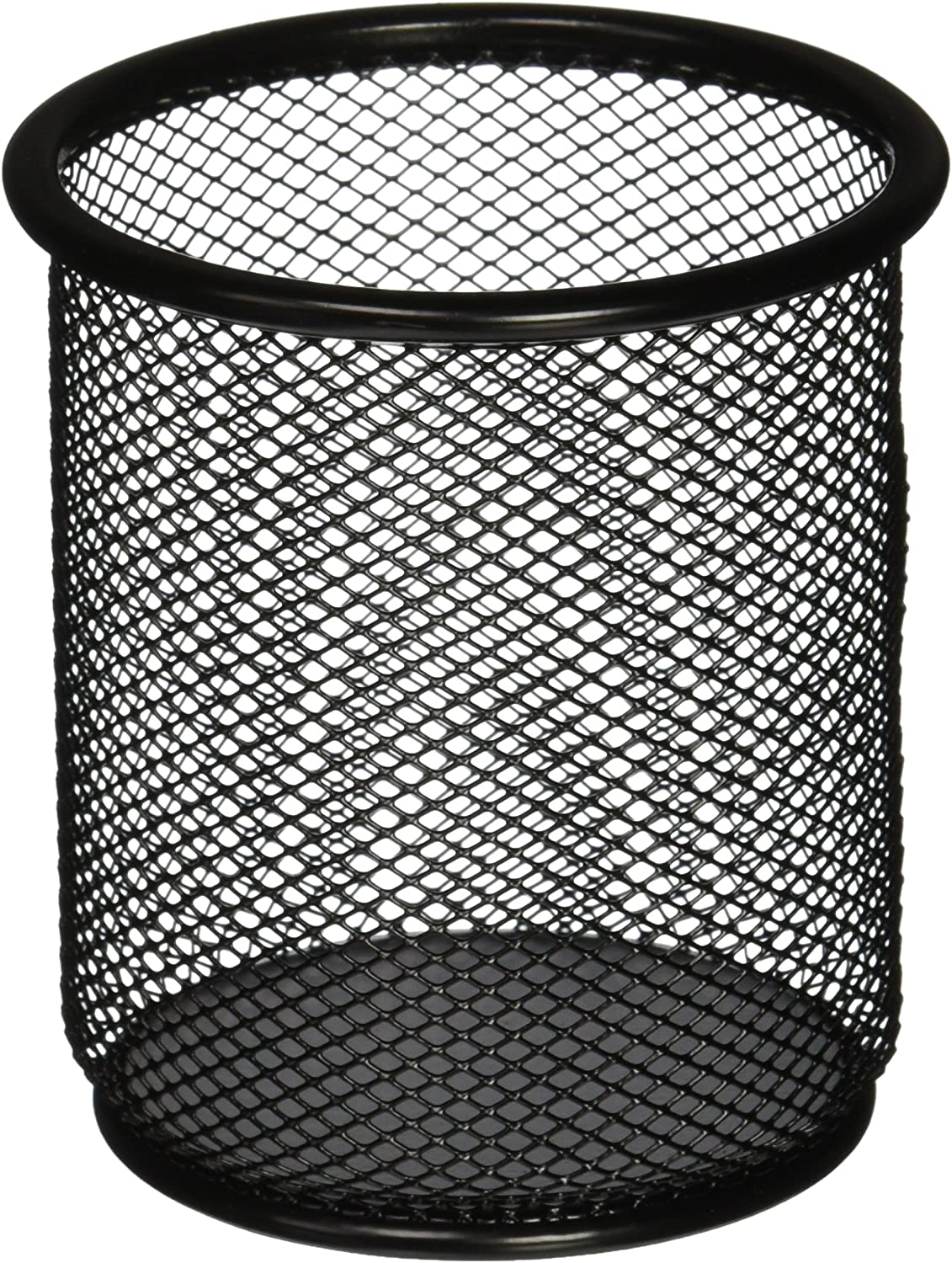 Lorell LLR84149 Mesh Wire Pencil Cup Holder, Black