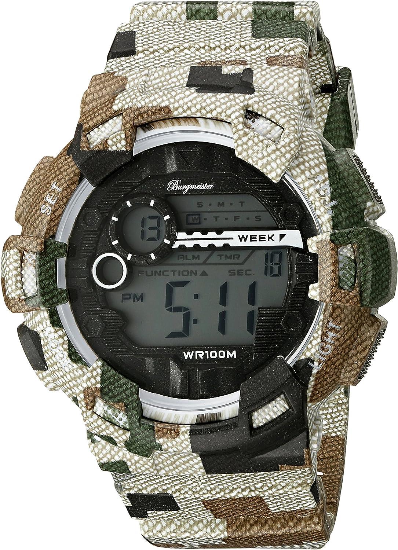 Burgmeister Reloj Digital para Hombre de Cuarzo con Correa en Plástico BM803-027