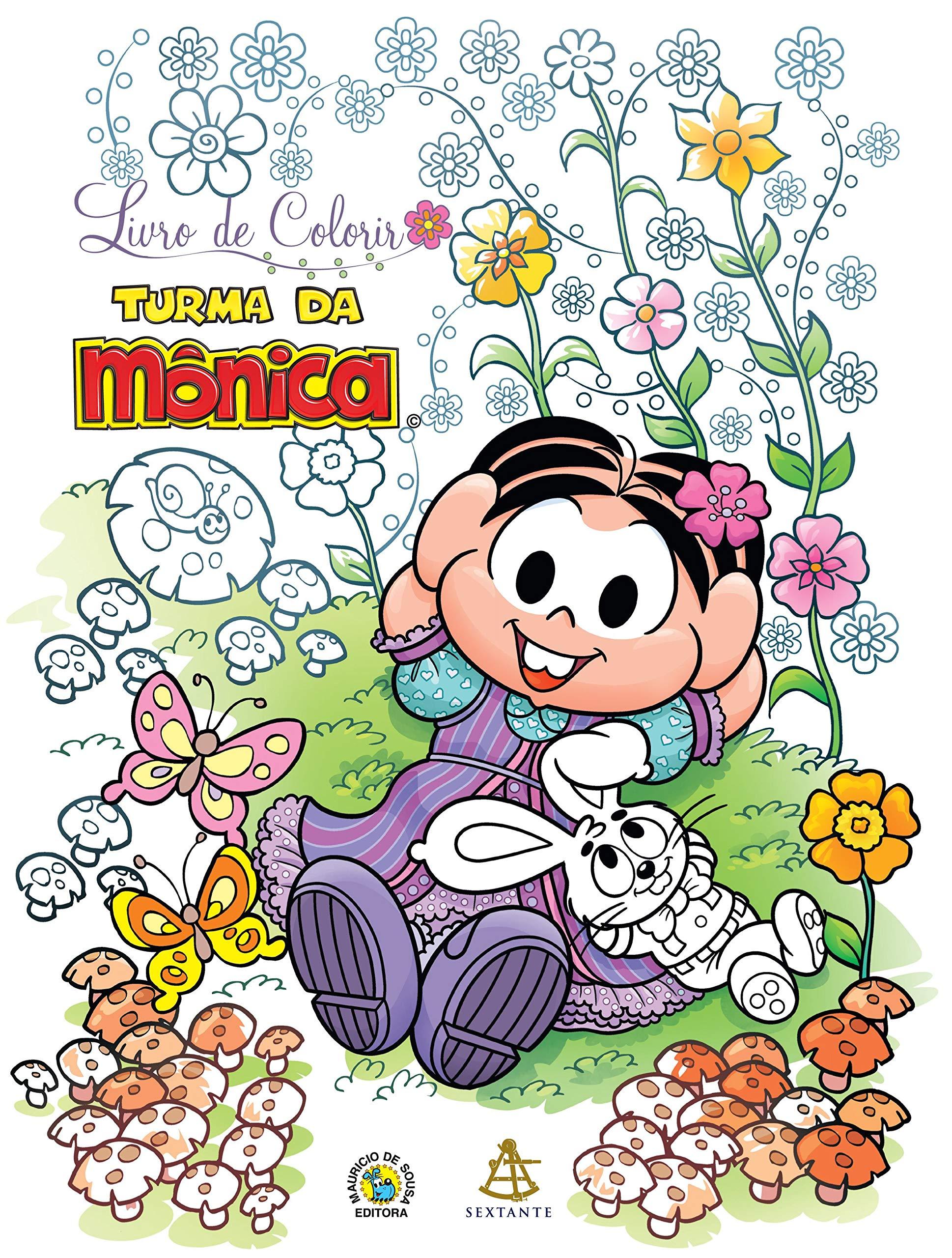 Livro De Colorir Turma Da Monica Em Portuguese Do Brasil