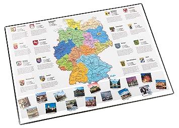 Idena Schreibunterlage Deutschland Europa Welt politisch 68 x 44 cm