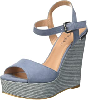 ShoeAmazon Women's ukShoesamp; co Bags Byblos Wedge Blu 682321 Covered UpSzqVM