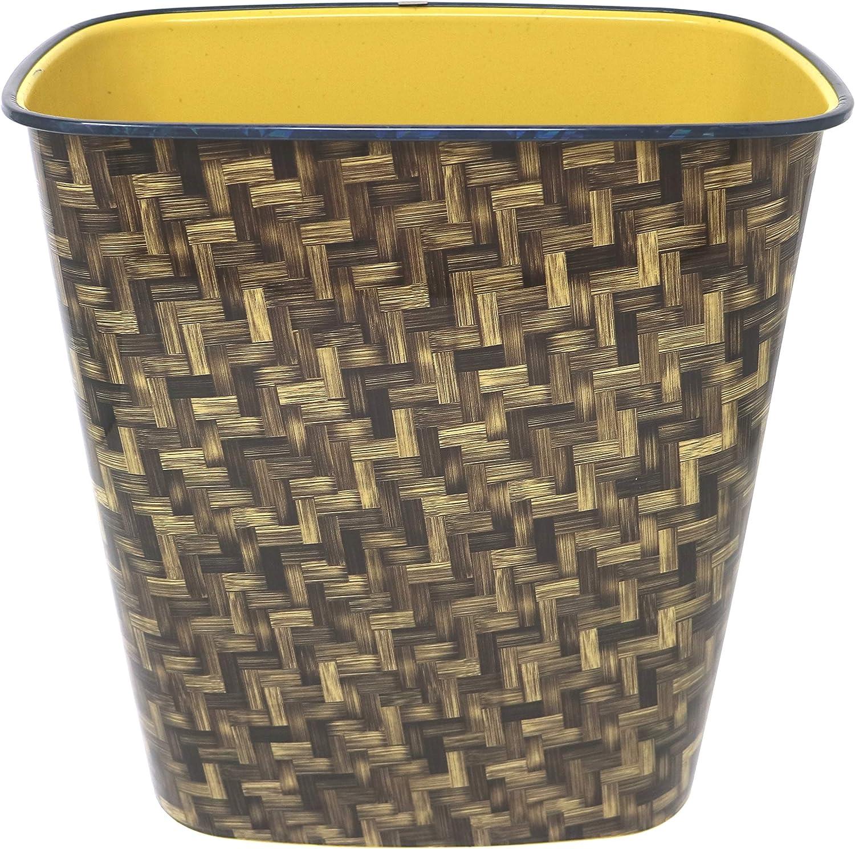 Dust Bin Paper Waste Basket Damask Design Plastic Bins for Home /& Office