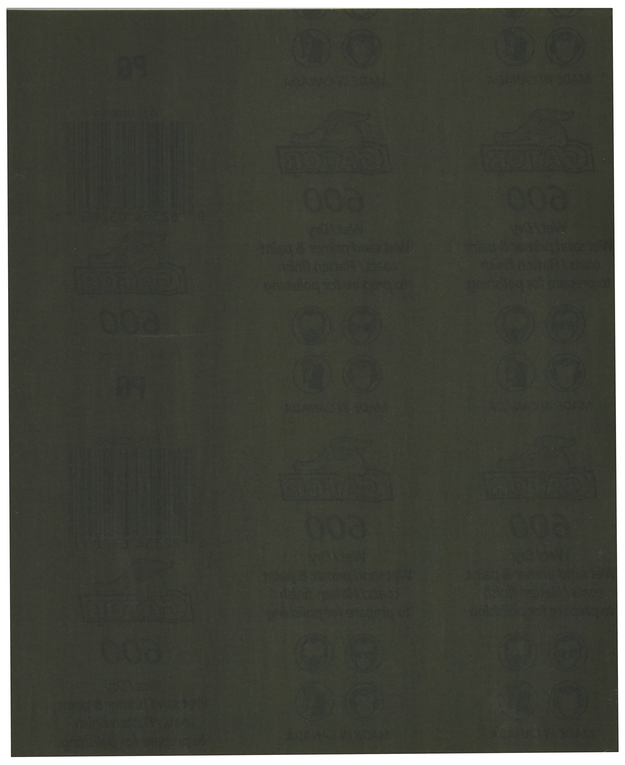 Gator Finishing 4238 600 Grit Silicon Carbide Sanding Sheets (25 pack), 9'' x 11''