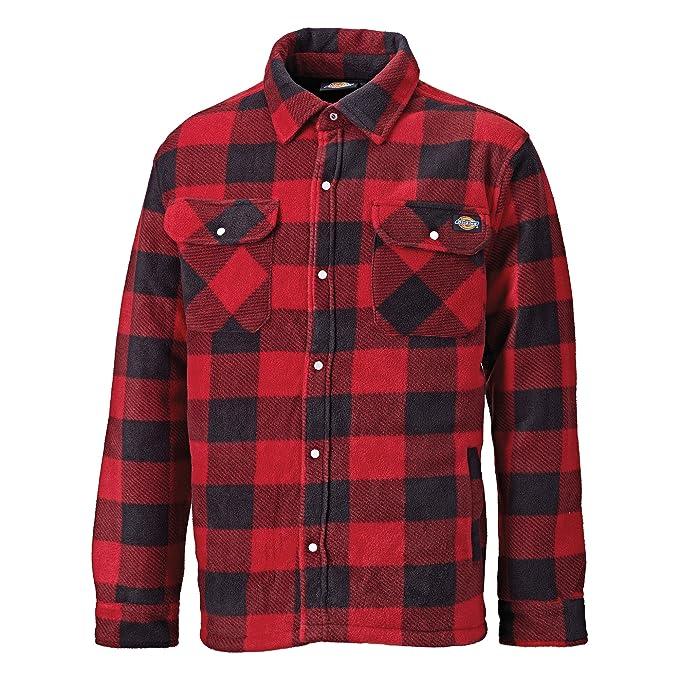 Amazon.com: Dickies Mens Padded Long Sleeve Portland Lumberjack Work Shirt: Clothing