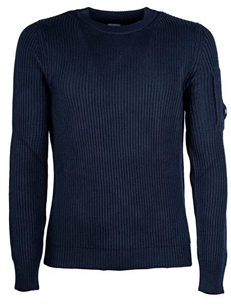16cfd364f54 CP COMPANY Man Sweater Knitwear Crew Neck Total Eclipse 05CMKN122A ...
