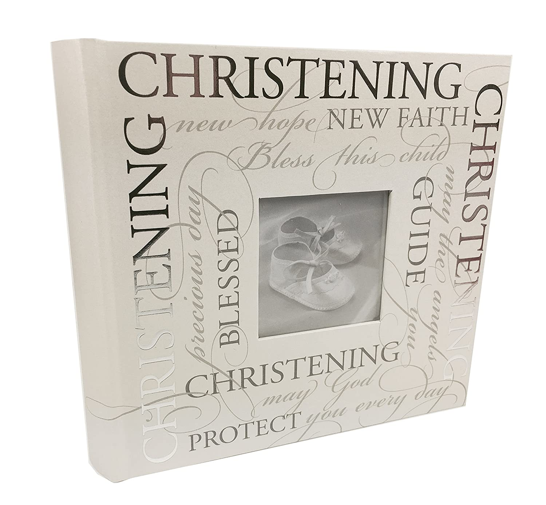 ukgiftstoreonline Christening Photo Album With Sentiments Gift 6 x 4