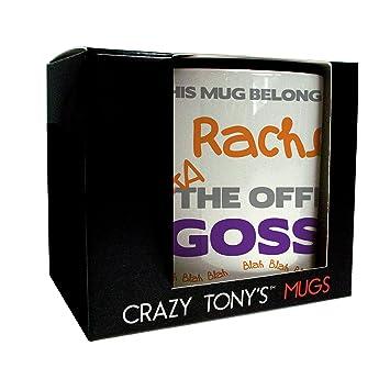 Personalisierte Buro Gossip Crazy Tony S Kaffeebecher Funny Tasse