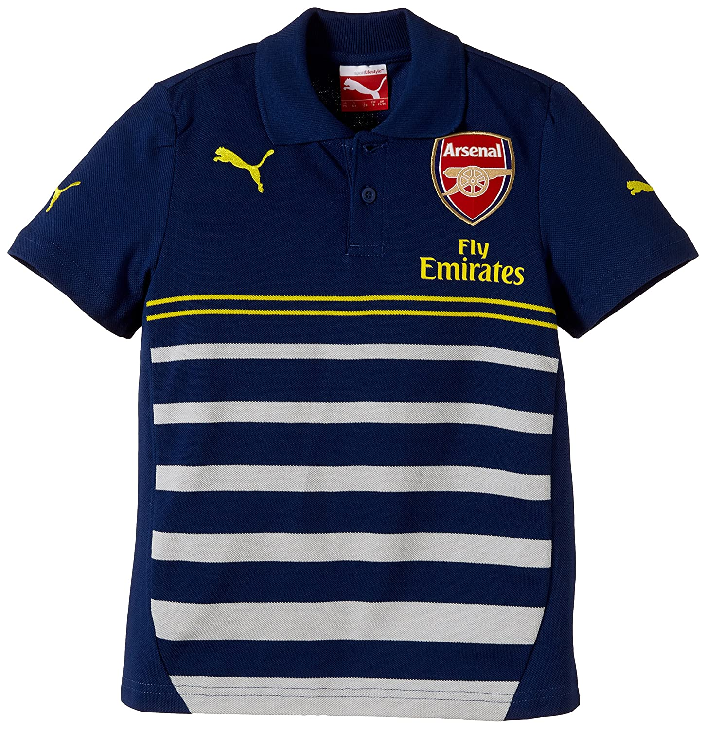 Puma Polo Shirt AFC Leisure Hooped with Sponsor - Prenda: Amazon ...