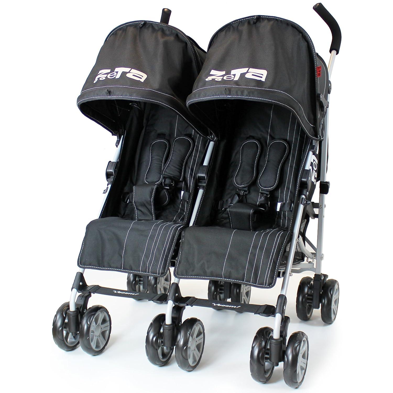 Black & Grey Spare Parts Set of x2 Front Wheels Zeta Citi
