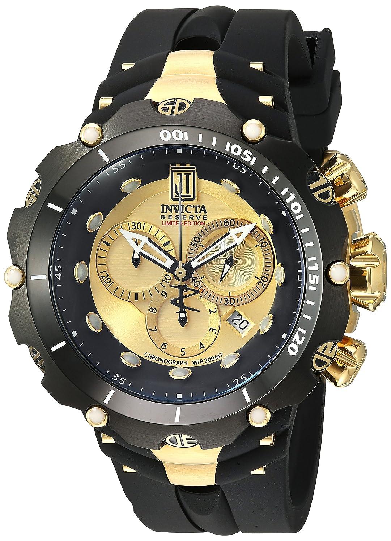 Invicta Men s 14416 Jason Taylor Analog Display Swiss Quartz Black Watch