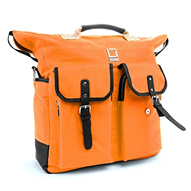 Orange Lencca Phlox Backpack Bag for Fujitsu LifeBook 13.3 to 15.6-inch Laptops