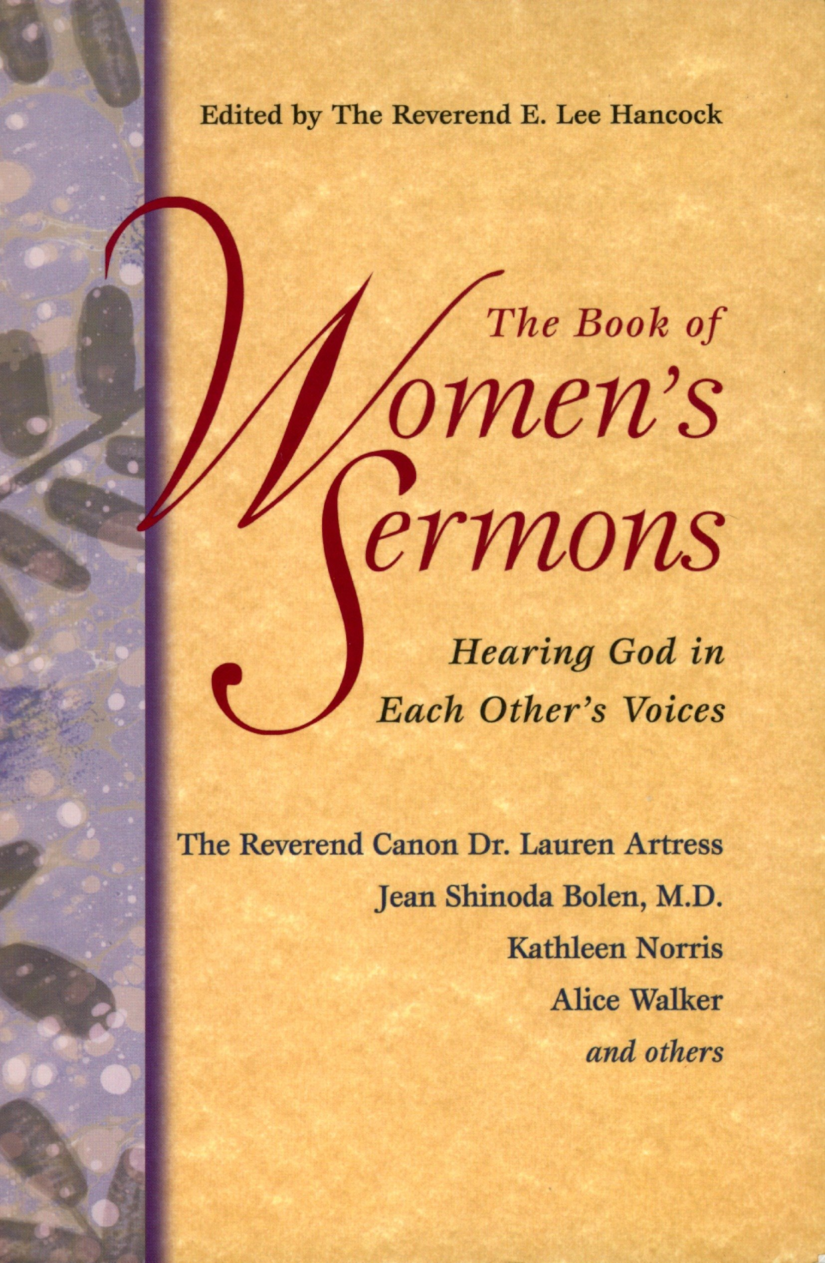 Amazon com: The Book of Women's Sermons: Hearing God in Each