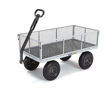 Carros de gorila Heavy-duty acero carro de utilidad con extraíble lados con una capacidad de 1000 kg, Gris: Amazon.es: Jardín