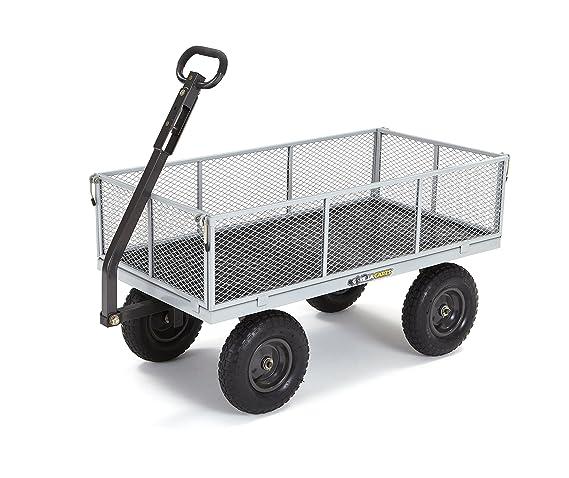 Amazon.com: Gorilla Carts - Resistente carretilla utilitaria ...