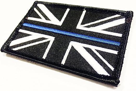 Britkit azul fina táctica línea de conexión estados unidos bandera y el parche de bucle negro: Amazon.es: Hogar