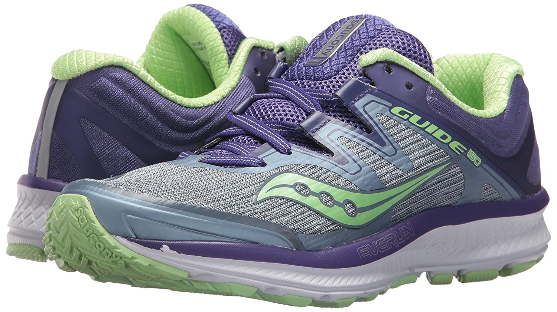 Saucony Women's Guide Iso Running Shoe B072JTVVYG 11 W US Fog/Purple