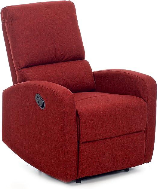 My Living Fiorella Poltrona Poliuretano Rosso 74x78x105 Cm