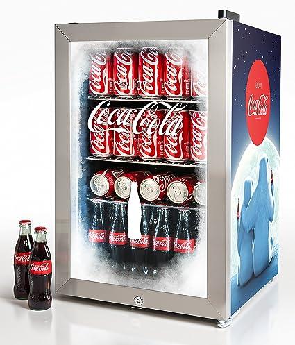 Coca Cola Fridge >> Nostalgia Bc24coke Coca Cola 80 Can Commercial Beverage Cooler