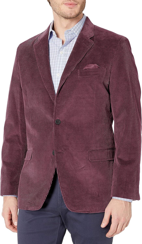 Ben Sherman Mens Two Button Slim Fit Cotton Cord Sportcoat