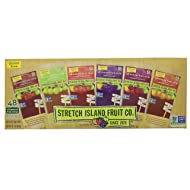 Fresh Stretch Island Fruit Co. Fruit Leather Variety Pack 96-Count package that comes in an EasyLock container that is Airtight, Watertight, and Stackable.