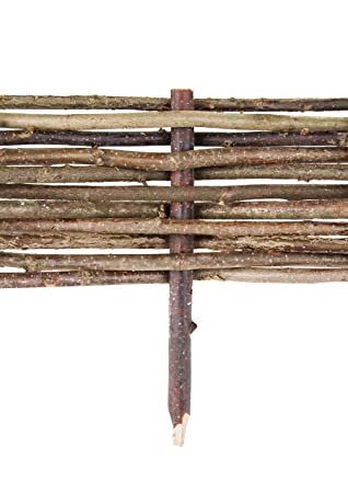 Bordure de Jardin en Noisetier Tressé (H 15cm x L 2m): Amazon.fr ...