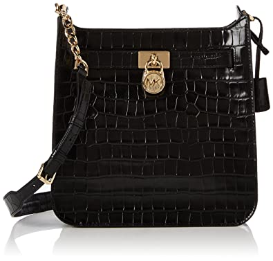 30febc768bfd3 Michael Kors Womens Hamilton Md Ns Messenger Top-Handle Bag Black (Black)   Amazon.co.uk  Shoes   Bags