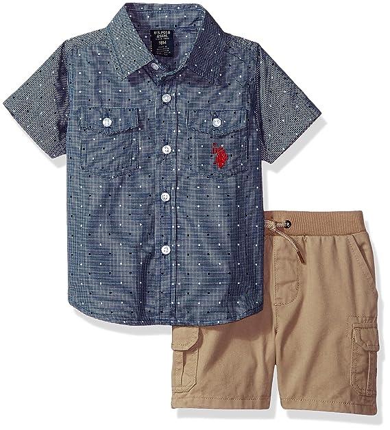 Polo Assn U.S Boys Sport Shirt and Short Set