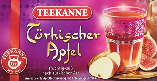 Teekanne Türkischer Apfel 20 Beutel, 6er Pack (6 x 55 g Packung ...