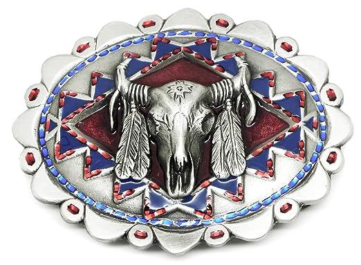 Crâne Boucle de Ceinture - Taureau   Vache Amérindiennes Western -  Authentique Great American Produit de 638c31853dd