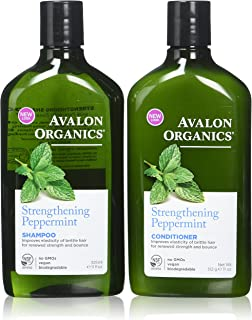 product image for Avalon Organics Strengthening Peppermint Shampoo and Conditioner Set, 11 Ounce Each