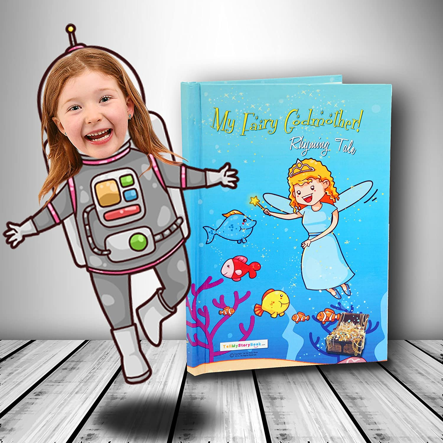 Hardback Personalised Children's Book using Your Child's Photo as the main character of the book! My FairyGodmother Tellmystorybook Ltd My Fairy Godmother