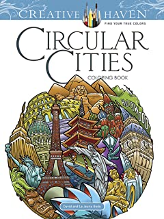 Creative Haven Circular Cities Coloring Book Adult