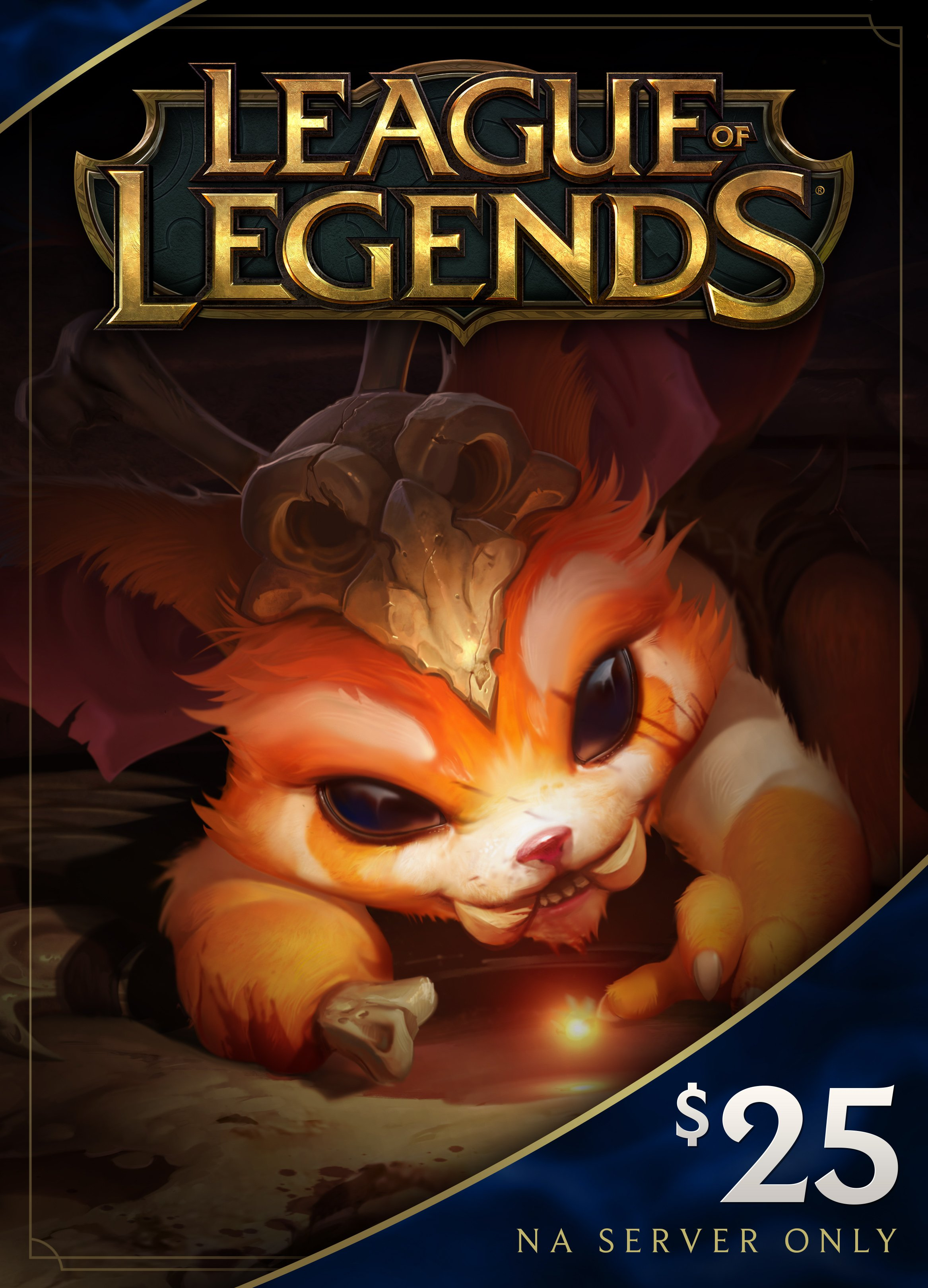 League of Legends $25 Gift Card - 3500 Riot Points - NA Server Only [Online Game Code] Million Gift Chest