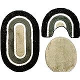 Set 80 X 50 Cm Schwarz Grau Weiß Mit Glitzer, 2cm