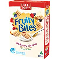 UNCLE TOBYS UNCLE TOBYS Fruity Bites Wildberry Breakfast Cereal 500g, 500 g