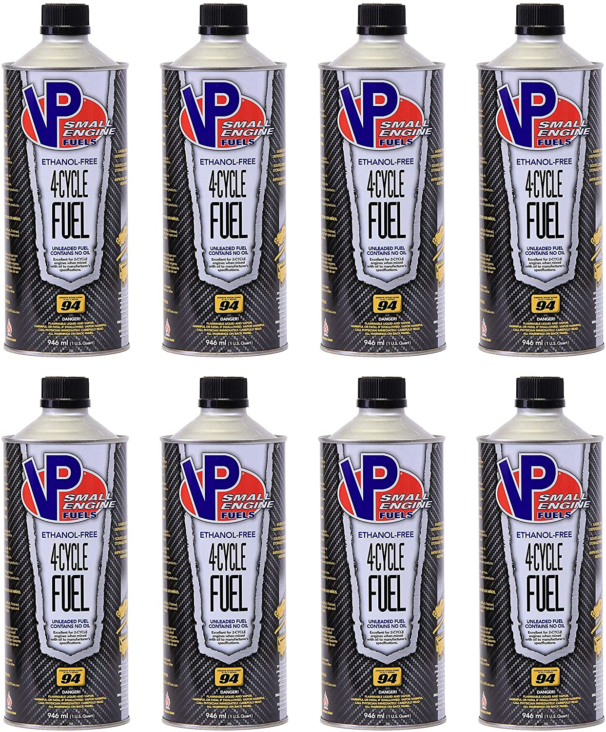 VP Small Engine Fuels 6208 Ethanol-Free 4-Cycle Fuel - Case of 8 (32oz)