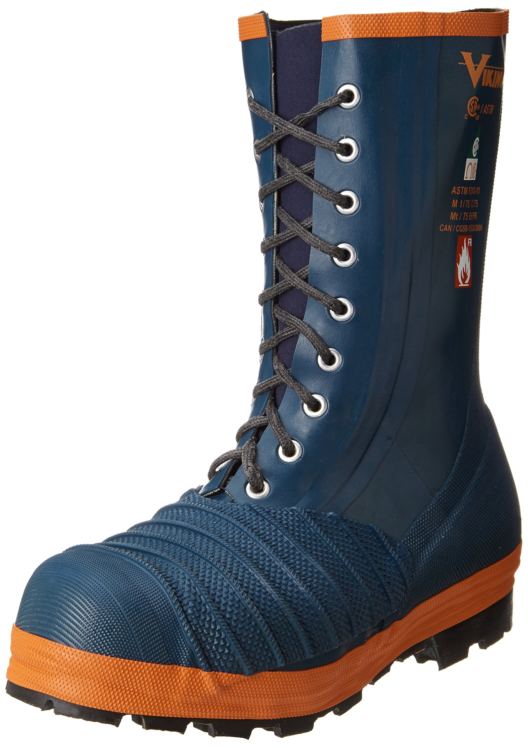 Viking Footwear Rigger Firewall FR-S/T&P Fire Resistant Boot, Blue/Orange, 9 M US by Viking Footwear